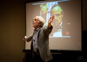 Keynote speaker Lee Gutkind presenting at HippoCamp 2015.